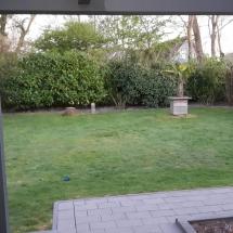 geheel omheinde tuin